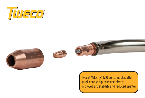 Speed Made Easy: New Tweco® Velocity™  MIG Consumables Are Now Part of the 3-in-1 Family of Welding Systems!