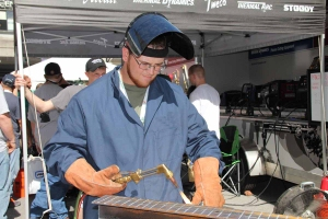 Caption: Caleb Stroud of North Central Kansas Technical College, Beloit, KS., took third with a time of 50.2 seconds.